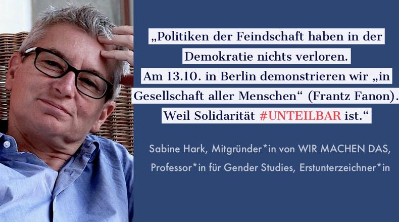 Sharepic #unteilbar11 Hark