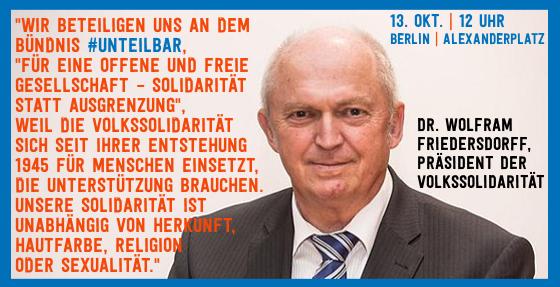 Sharepic #unteilbar16 Friedersdorff