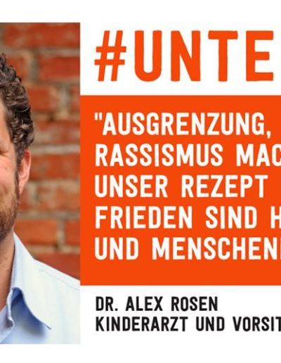 Sharepic #unteilbar44 Rosen