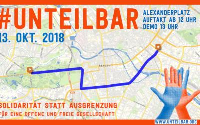 #unteilbar veröffentlicht Route von Großdemonstration