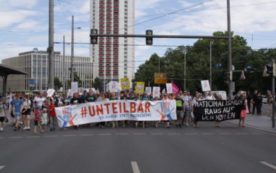 7.500 Menschen bei #unteilbar Auftakt-Demonstration in Leipzig