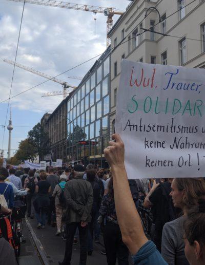 Kein Fussbreit, 13.10.2019, Berlin, CC-BY 4.0 unteilbar.org