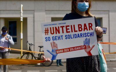 Presseinformation #SoGehtSolidarisch (Band der Solidarität)14.06.2020 für Berlin & Leipzig