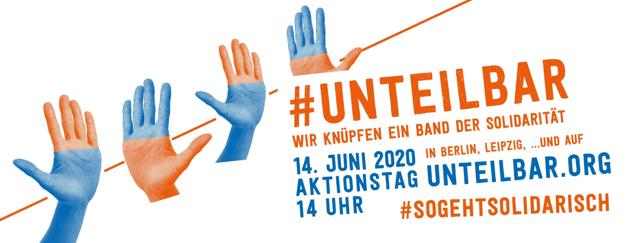 Am Sonntag, den 14. Juni 2020, um 14 Uhr werden wir verantwortungsbewusst und mit Abstand demonstrieren. Auf der Straße und im Netz zeigen wir:<br /> #SoGehtSolidarisch!<br /> * Routen und Infos zu Berlin, Leipzig & anderen Orten...